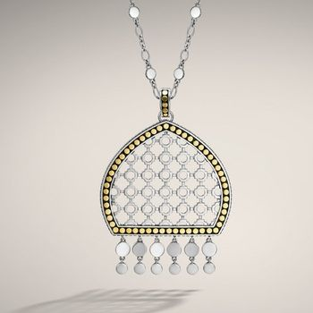 Dot Collection Dome Pendant On Chain Necklace In Fall