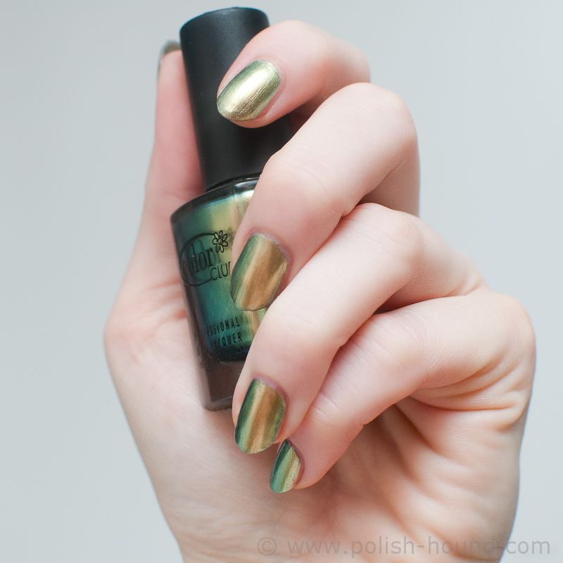 Color Club- Editorial, a green to gold/yellow duochrome. This polish ...
