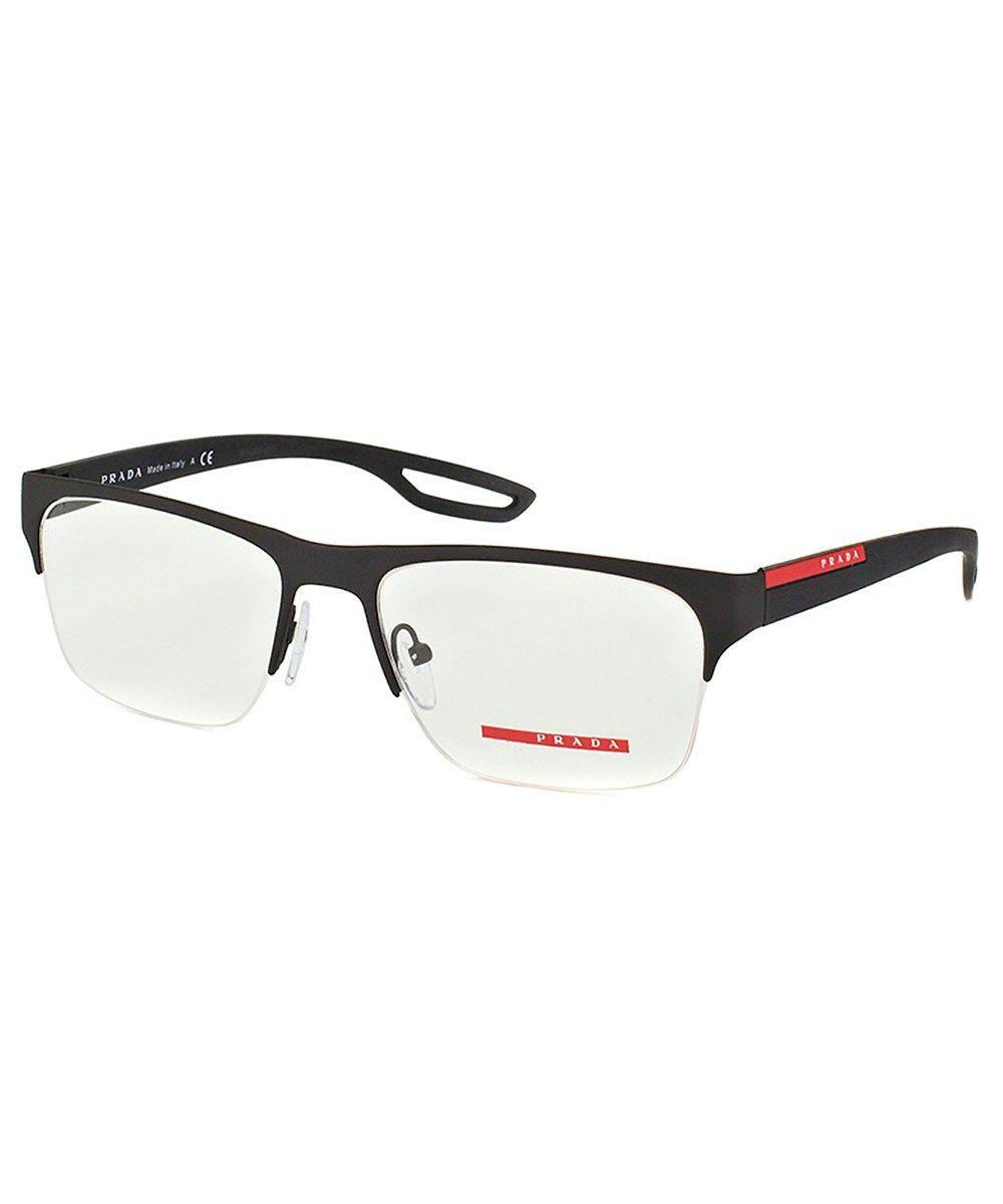 31541a57060 PRADA Linea Rossa Semi-Rimless Rubber Eyeglasses .  prada  sunglasses