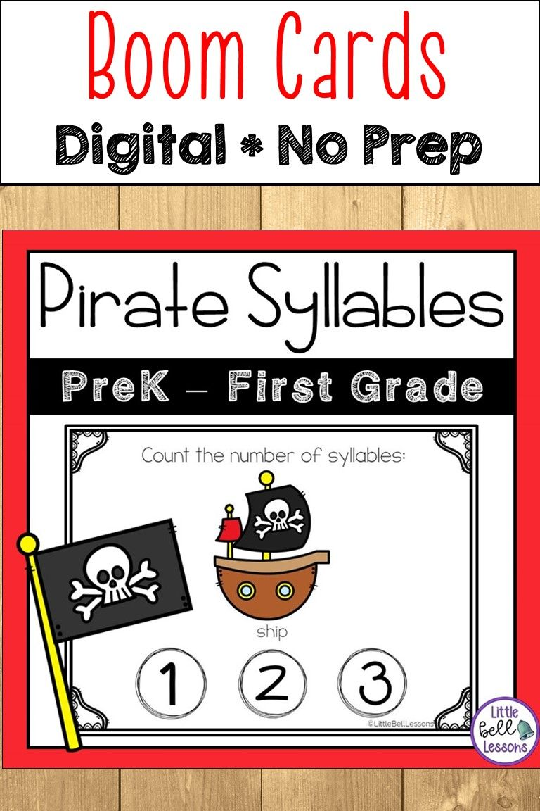 Pirate Themed Activities Boom Cards Pirate Preschool Pirate Unit Language Arts Lessons [ 1152 x 768 Pixel ]
