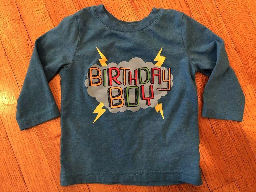Toddler Boys Birthday Boy Shirt Blue By Cat Jack 12 Months