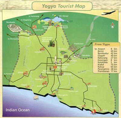 Borobudur Day Tour Tourist Map Borobudur Amazing Maps