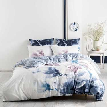 Marie Claire Maggie Quilt Cover Set Blue King | Bedroom