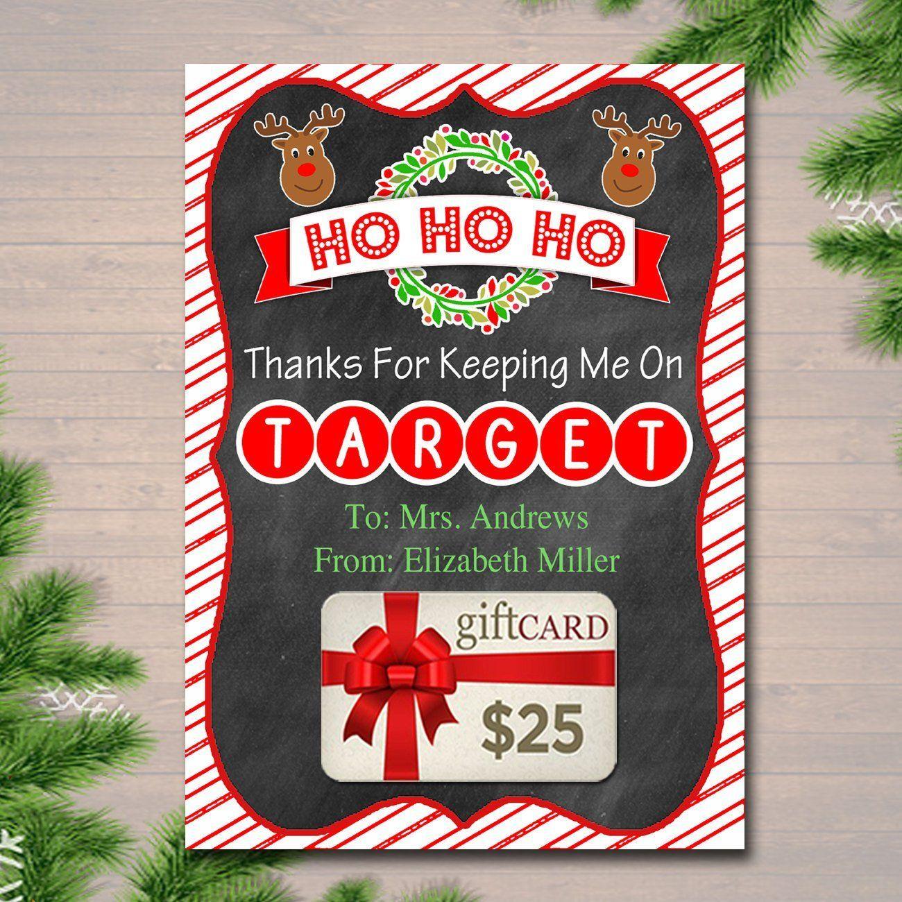Christmas target gift card holder printable teacher gift