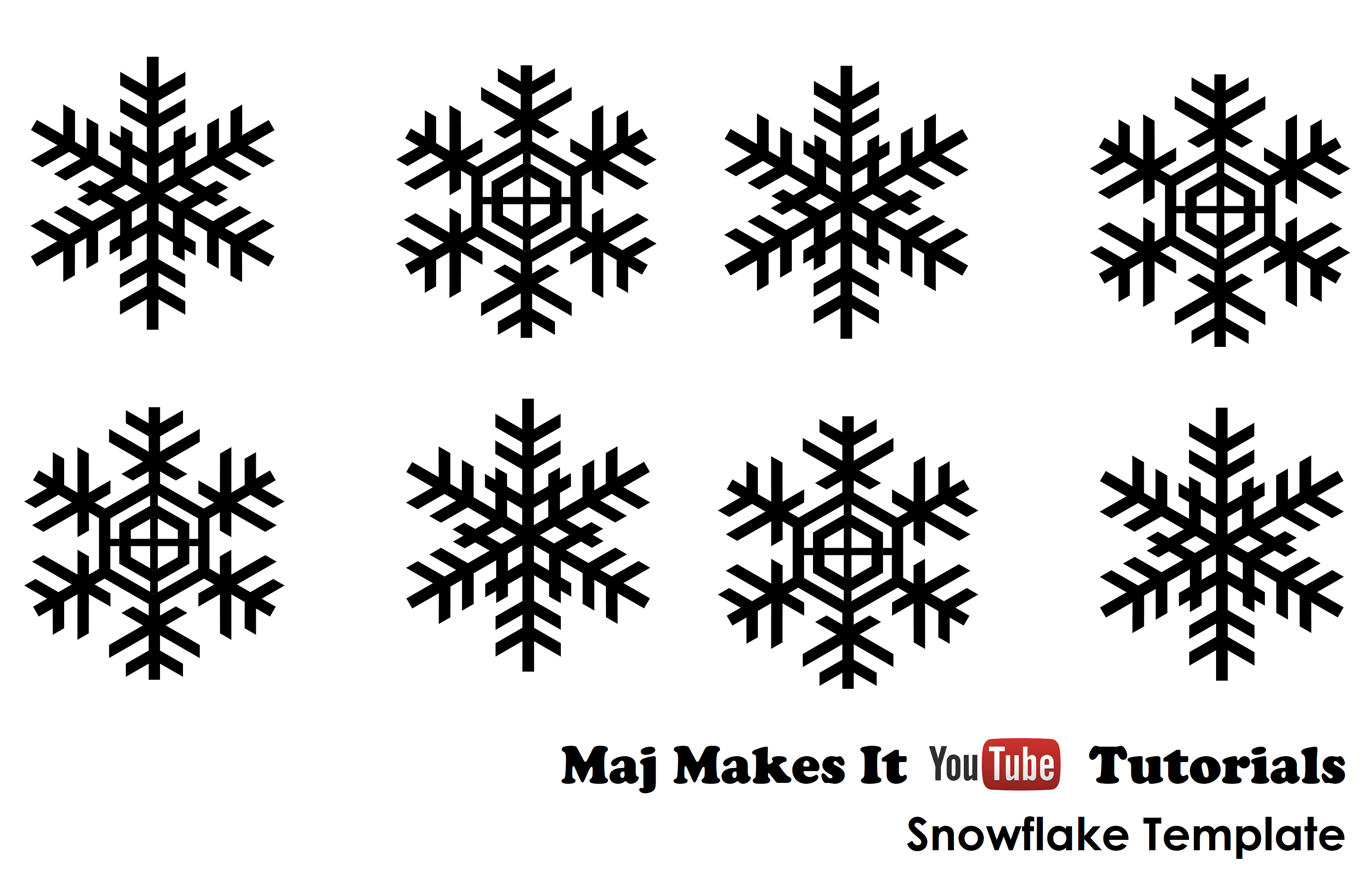 Maj Makes it Chocolate Candy Melts Snowflake template. How
