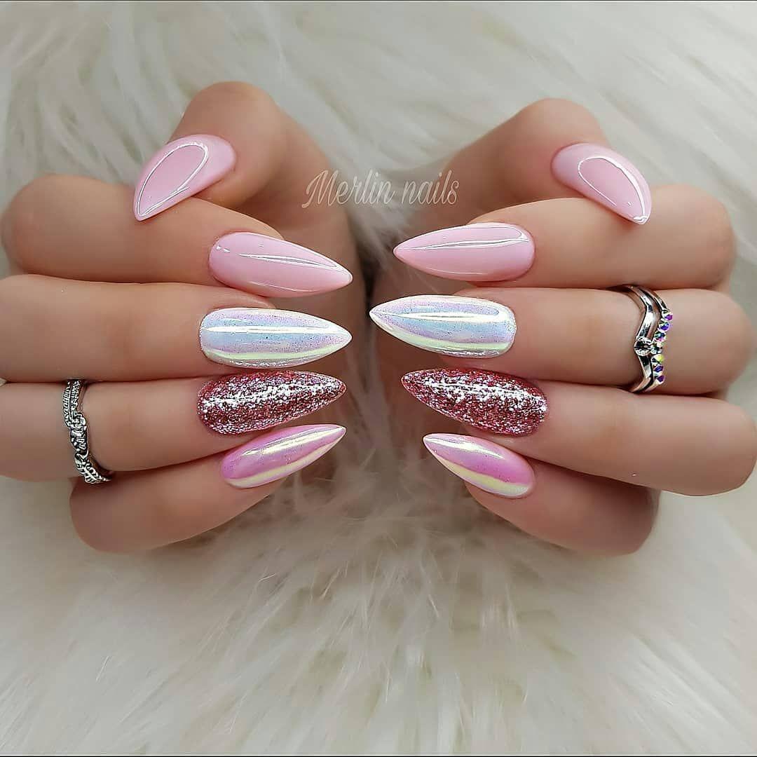 110 Nail Art Designs And Ideas 2020 In 2020 Pink Nails Pink Nail Designs Hair And Nails
