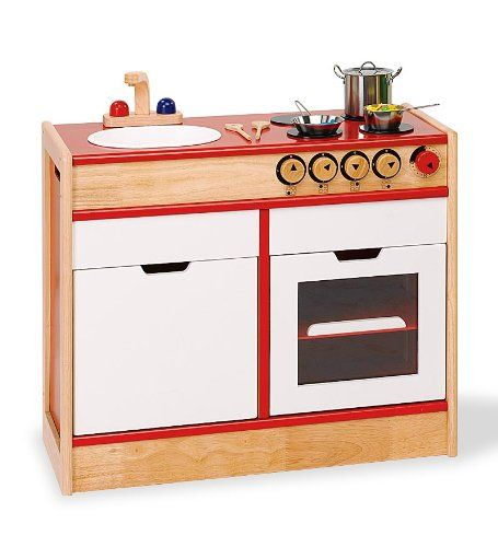 child sized wooden pretend kitchen stove and sink set pintoy http rh in pinterest com