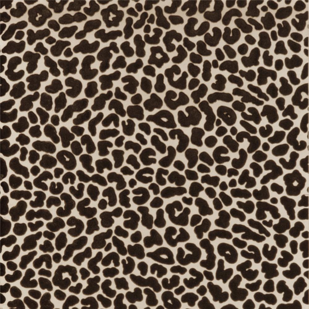 Leopold Flock Print Chocolate Wallpaper W0044 02 Serendipity Home Interiors Leopard Print Wall Art Flock Wallpaper Animal Print Wallpaper