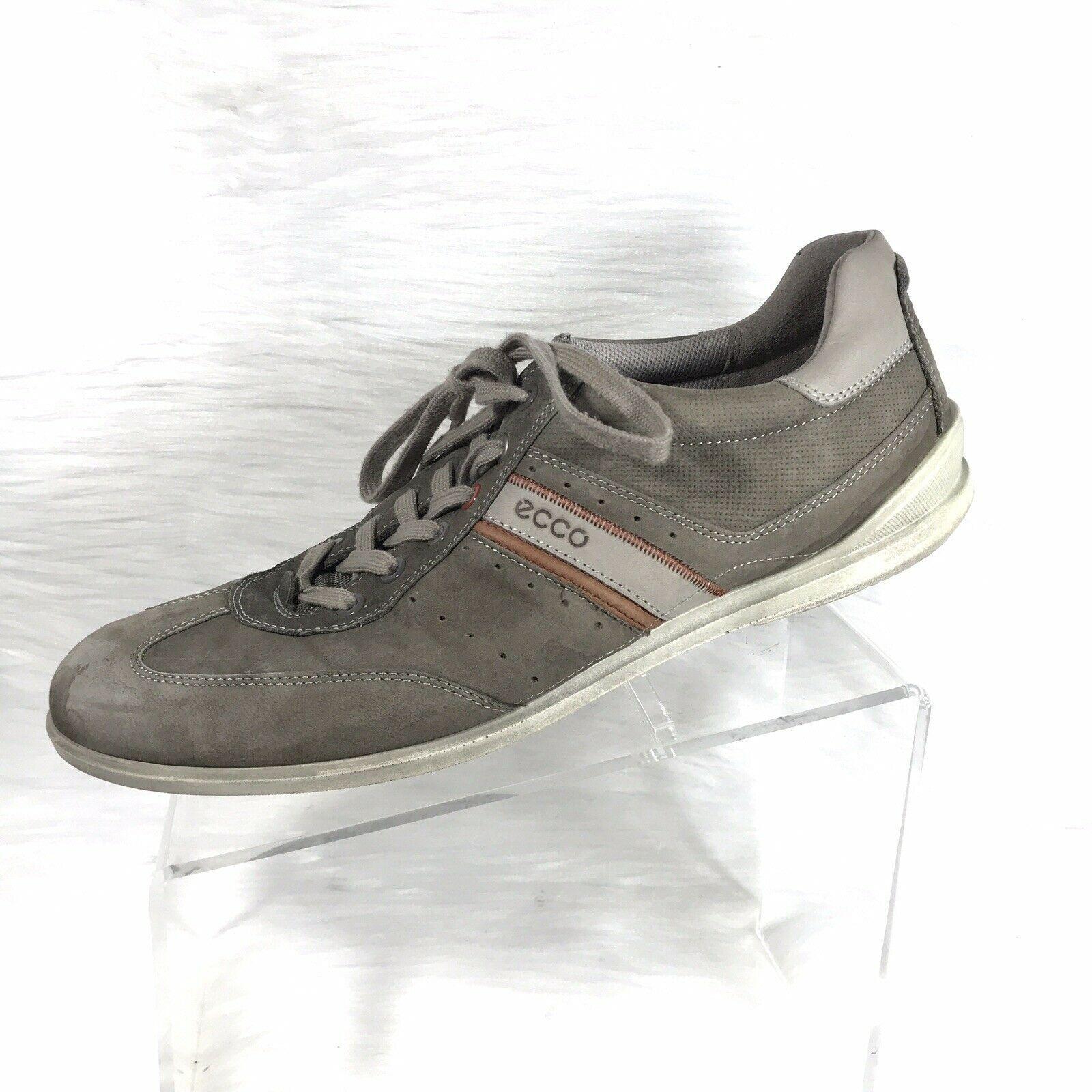 ECCO Mens Fashion Sneakers Gray Leather