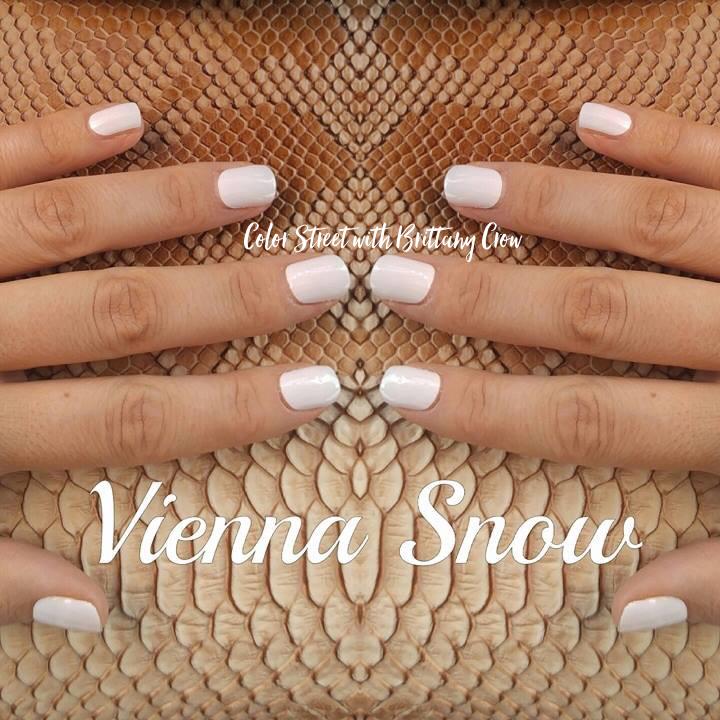 Vienna Snow 100% real nail polish strips by Color Street. NO tools ...