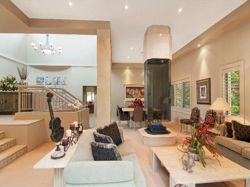 contemporary chic split level interior design - Google ...