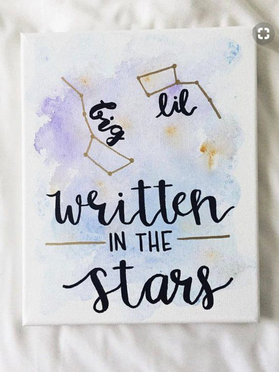 Big little canvas, sorority canvas, big little gift, written in the stars, big dipper, big little basket, big little week, greek canvas dorm #biglittlereveal image 0 #biglittlecanvas