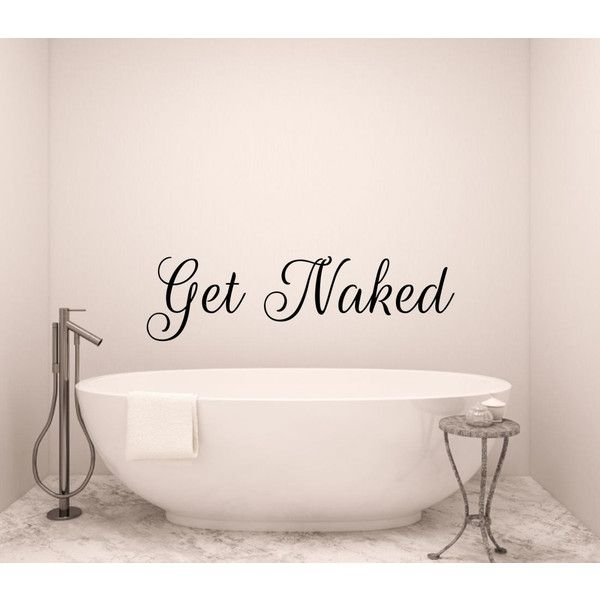 Get naked wall decal bathroom decal bathtub decals vinyl decal shower €