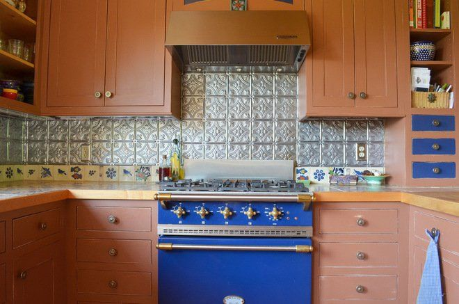 Tin Tile Not Just for Ceilings Anymore Kitchens Pinterest