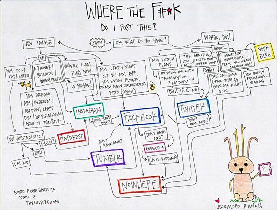 Where The Fk Do I Post This A Social Media Flowchart Pure
