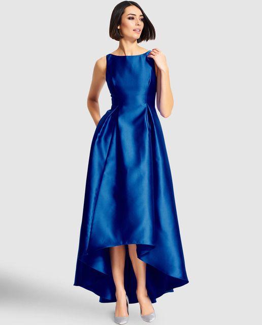 4a28997c6 Vestido de mujer Adrianna Papell en color azul con escote de pico en la  espalda