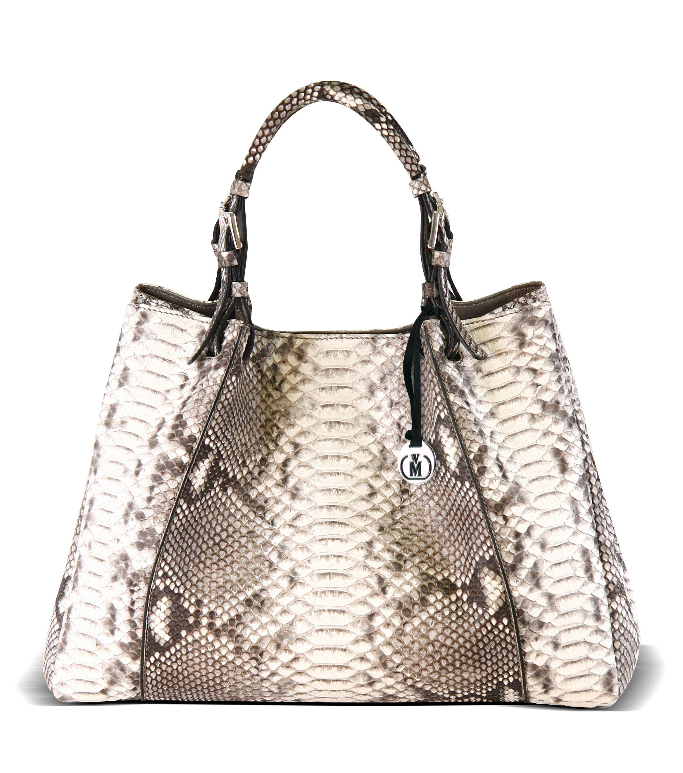 Via La Moda Wow Handbag In Genuine Python Skin