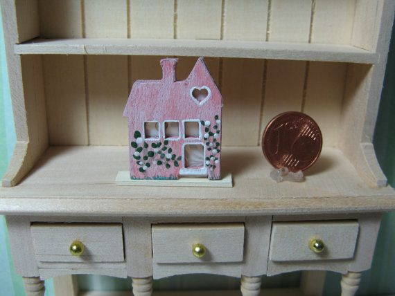 Little Pink House No. 2 - Decoration for your dollhouse (1:12 scale)