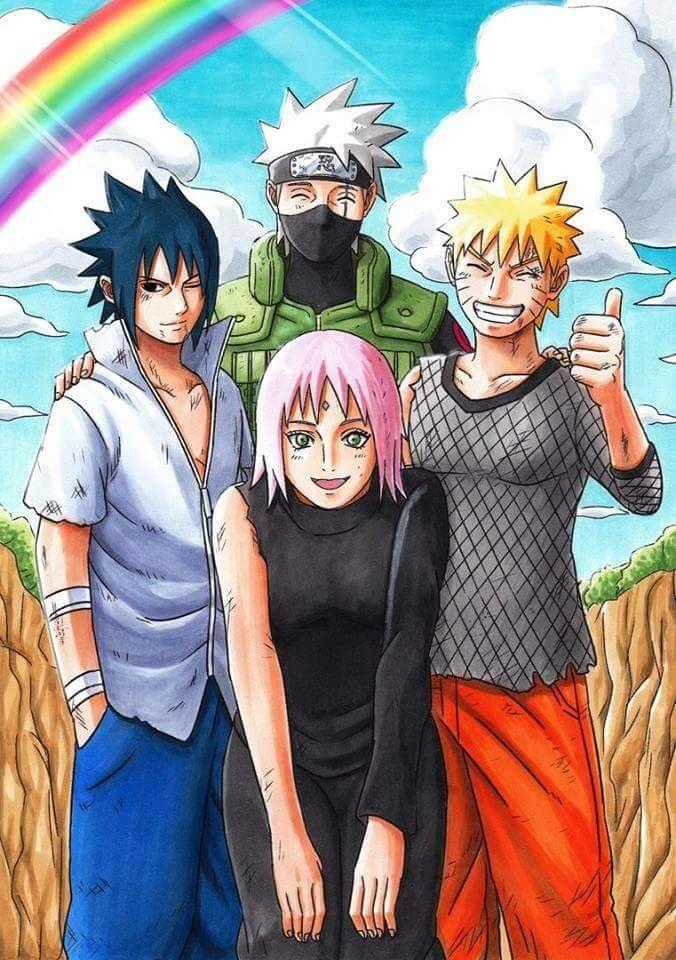 Poster A3 Naruto Shippuden Grupo 7 Naruto Sasuke Sakura Manga Anime Cartel
