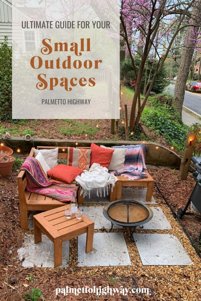 The Ultimate Guide for your Small Outdoor Space - Got a small outdoor space and don't know what to do with it? I've created a list of the top 9 things every beginner patio design needs. From patio seating to plants, I've got your patio essentials right here. Palmetto Highway