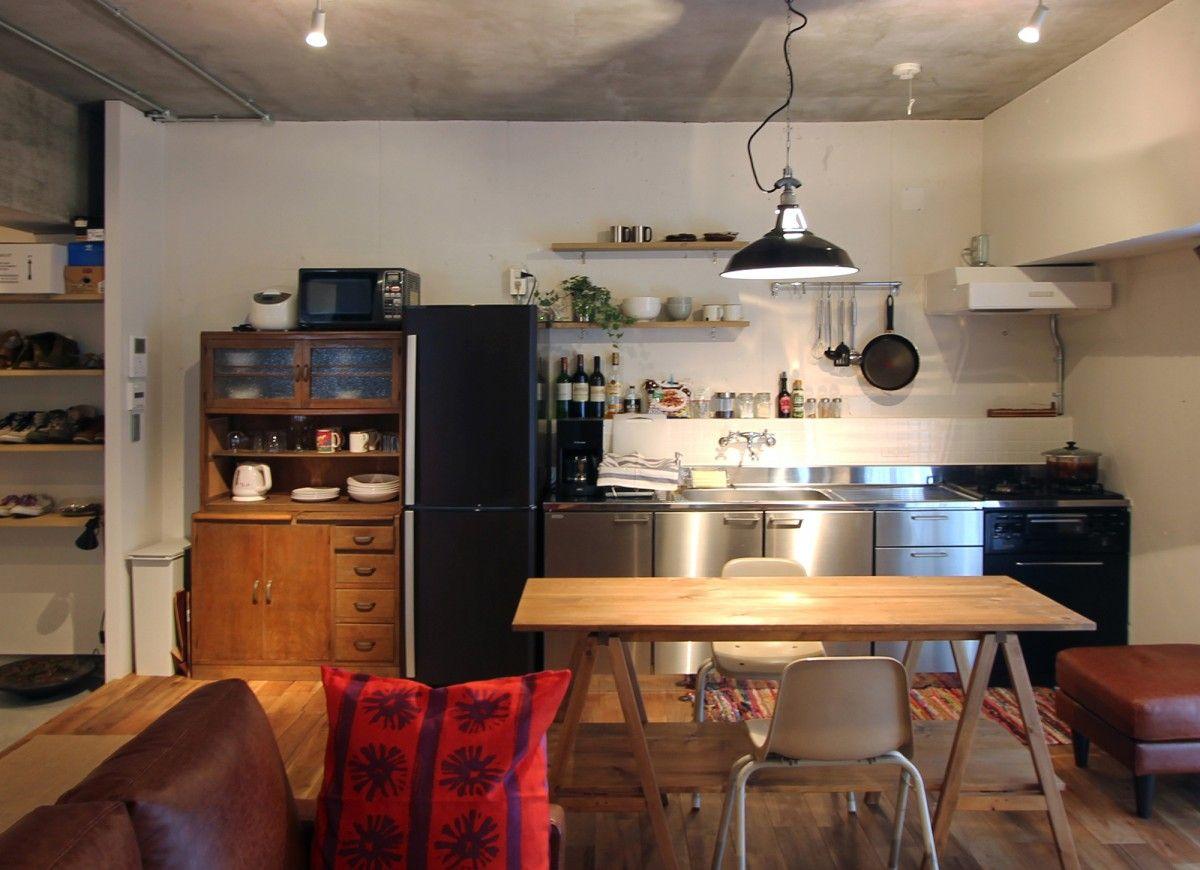 壁付けキッチン 壁付けキッチン リビング キッチン キッチン