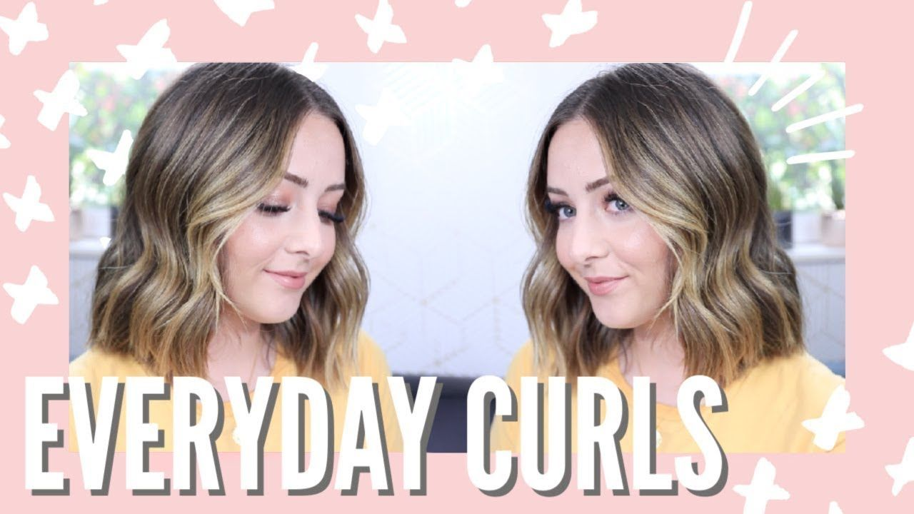 Everyday Loose Curls For Short Hair With A Straightener How To Curl Short Hair Loose Curls Loose Curls Short Hair