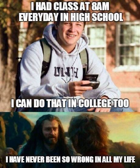 Class At 8 High School V College Funny Memes College Humor Laugh