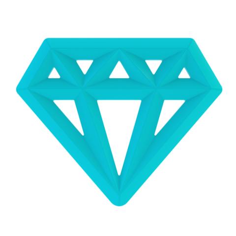 Silicone Diamond Teether