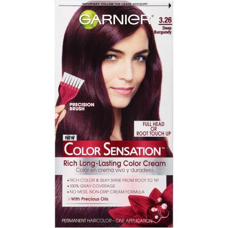 Garnier Color Sensation Permanent Hair 3 26 Deep Burgundy Red