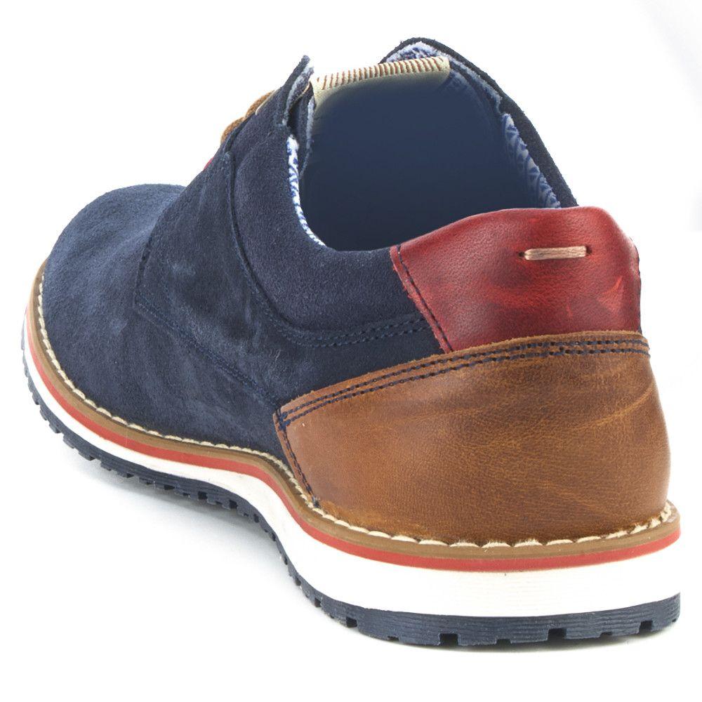 4e3b1686a FOSCO Zapato Casual Piel Fosco Azul Marino Zapatos Para Traje