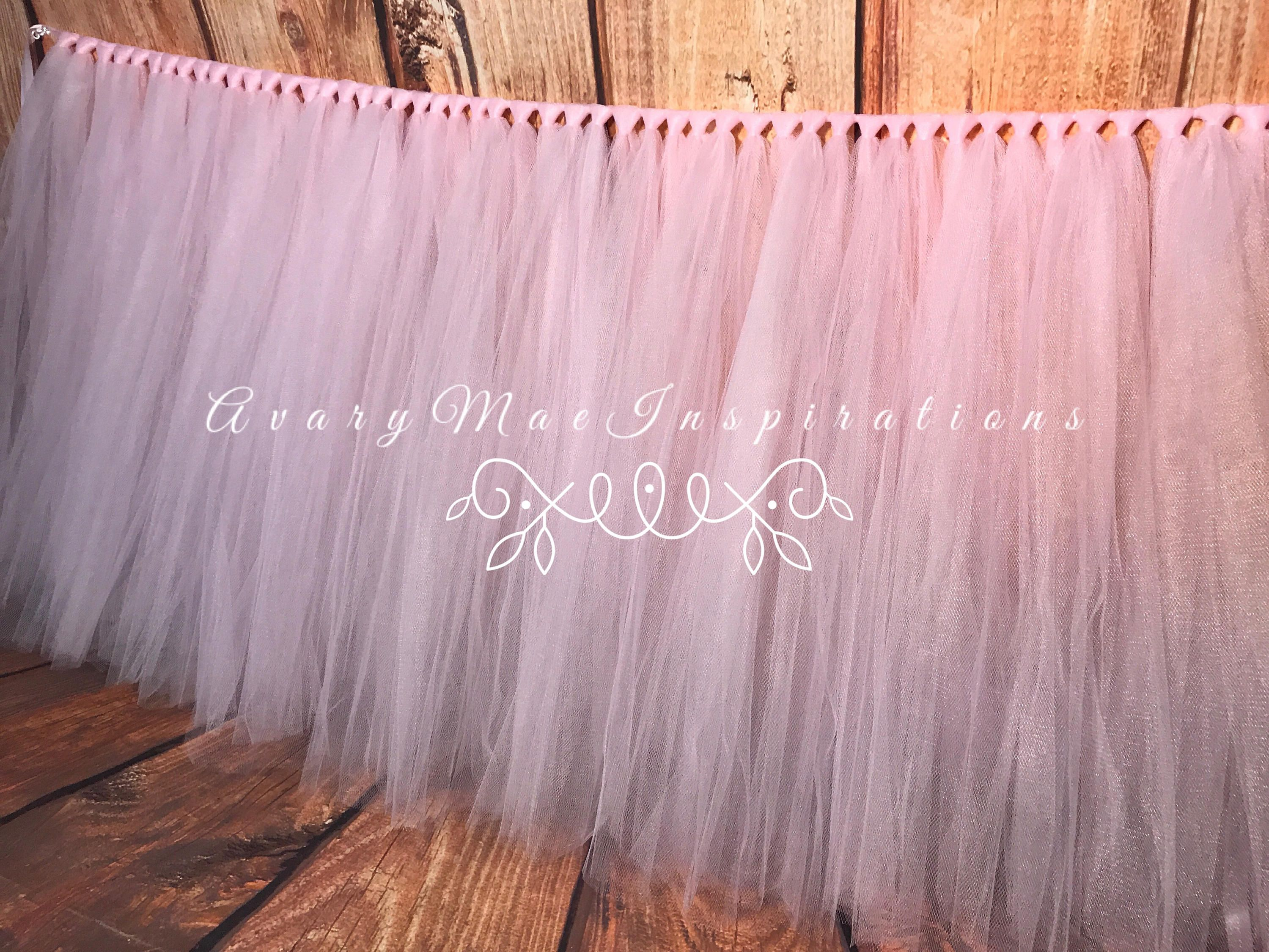 Light Pink Table Skirt Tulle Tutu