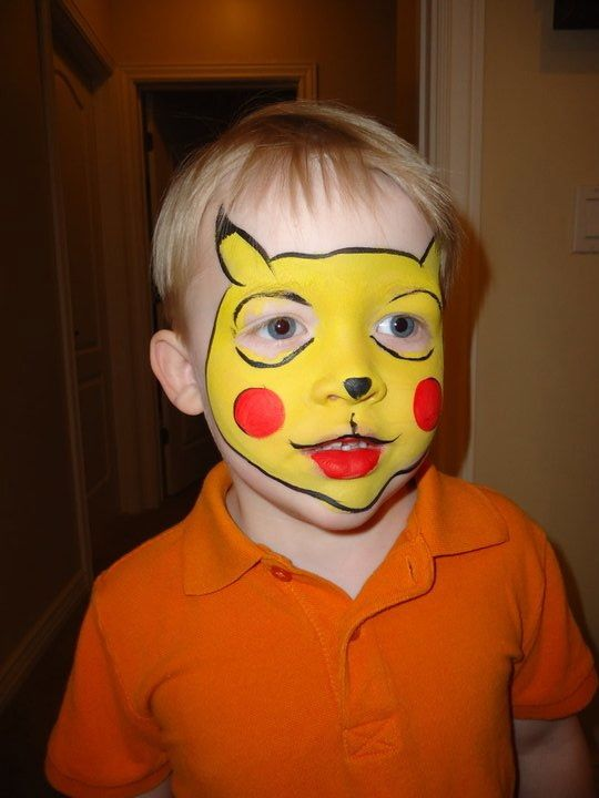 Face Paint Has Never Been More Adorable Kids Face Paint Art Crafts Pikachu Face Painting Kids Face Paint Face Painting Designs
