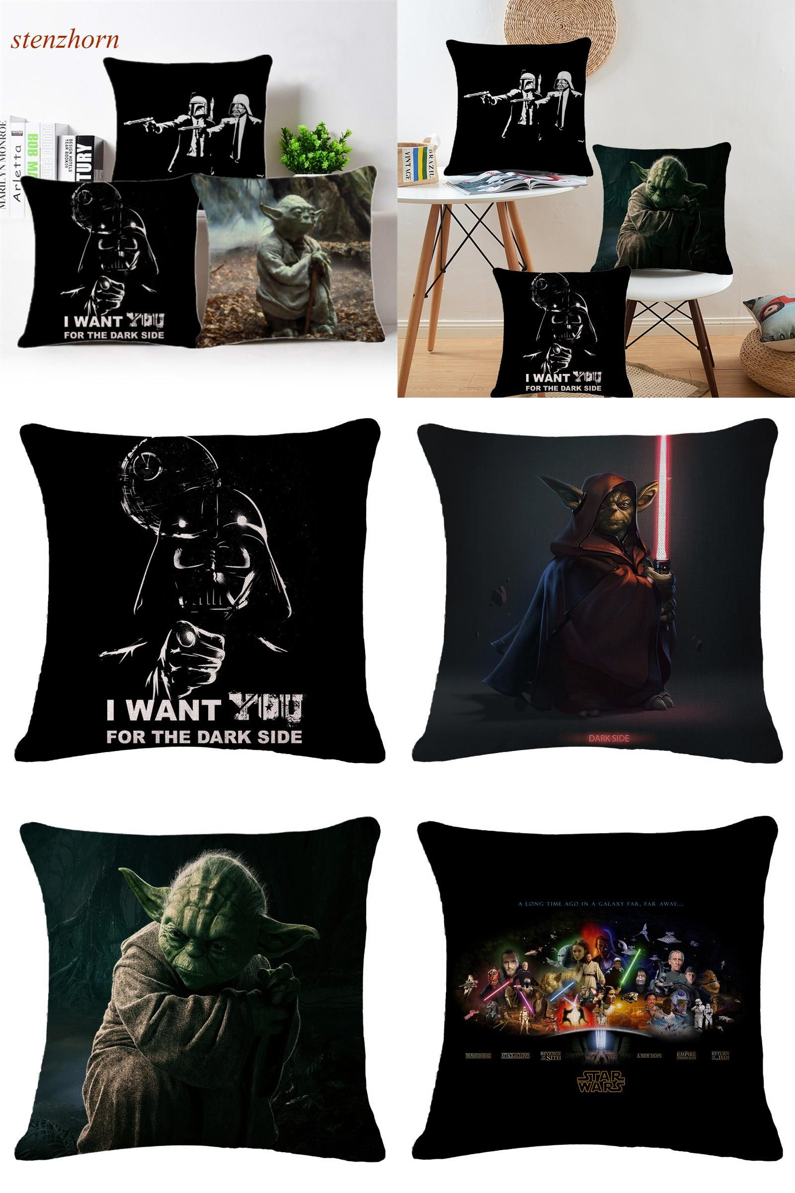 Visit to Buy] 18D Star Wars Decorative Pillow Cushion Covers Cotton ...