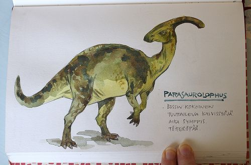 Parasaurolophus - beautiful artwork!