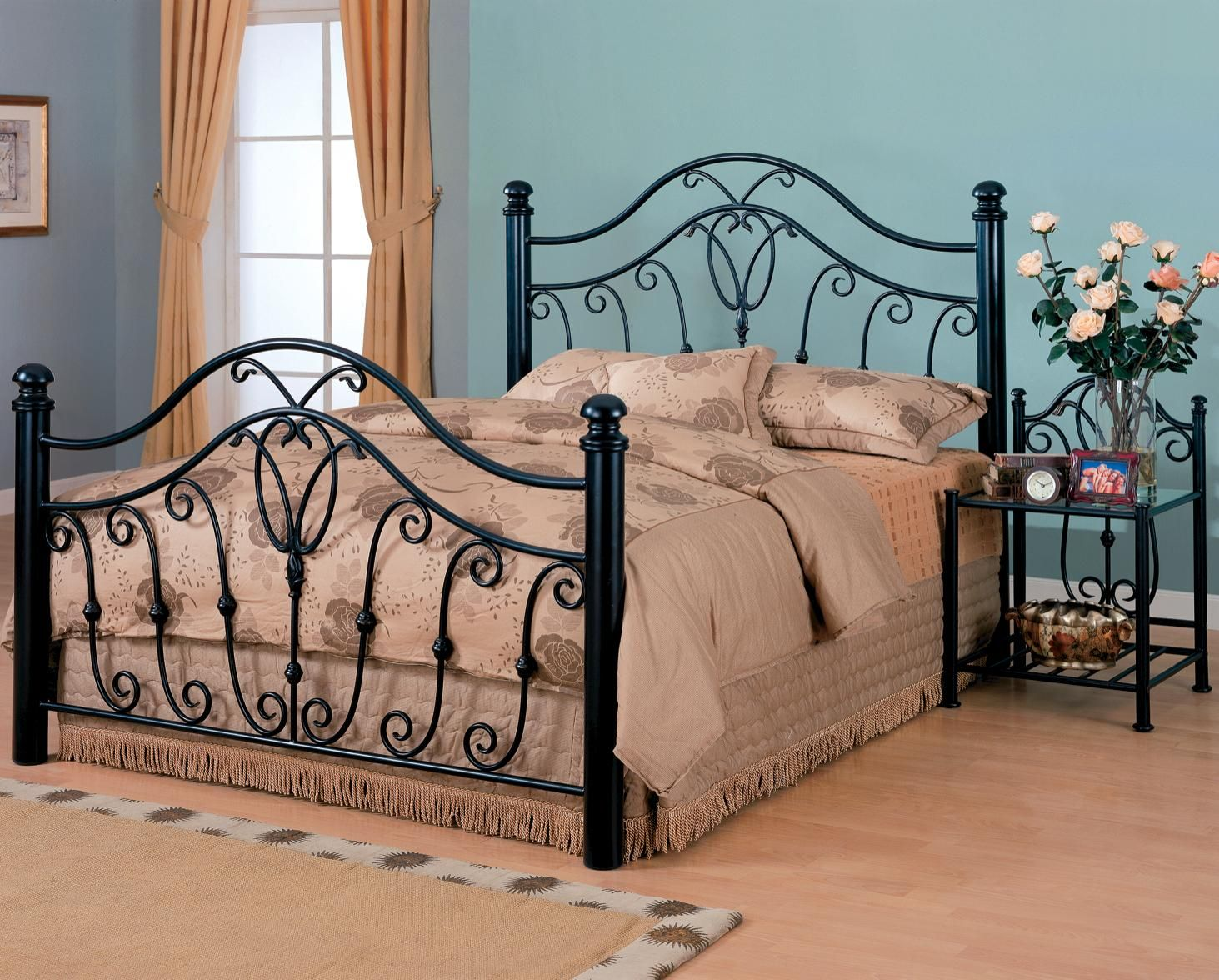 Best Black King Size Wrought Iron Bed Iron Bed Queen Size 400 x 300