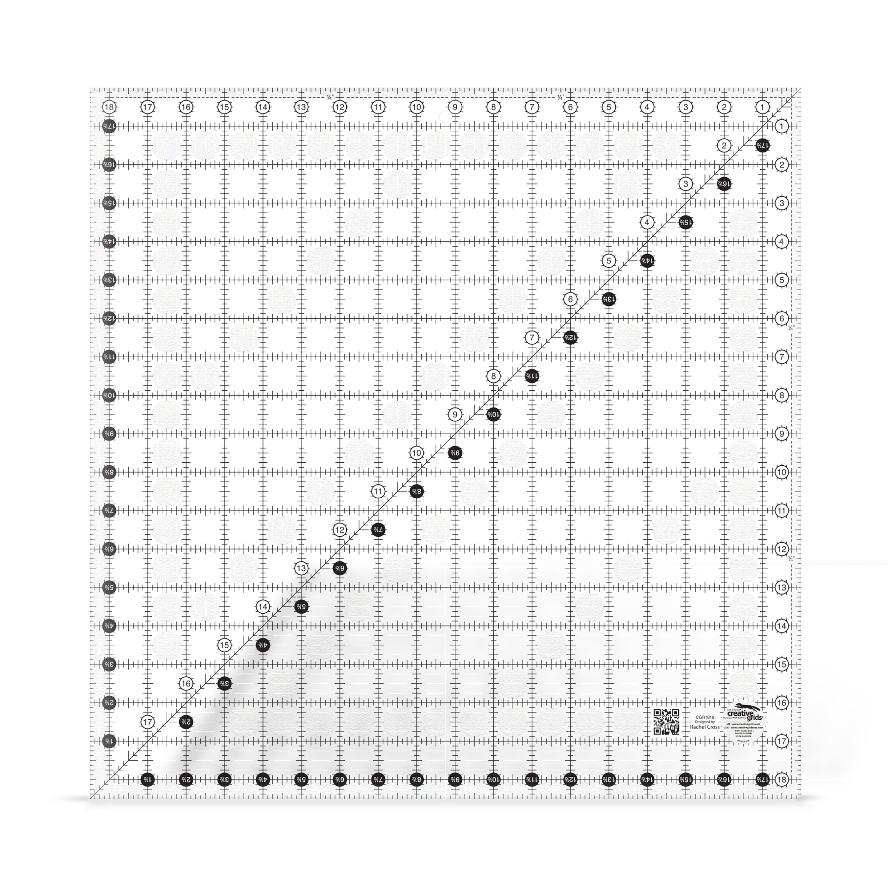 18 1/2 inch square