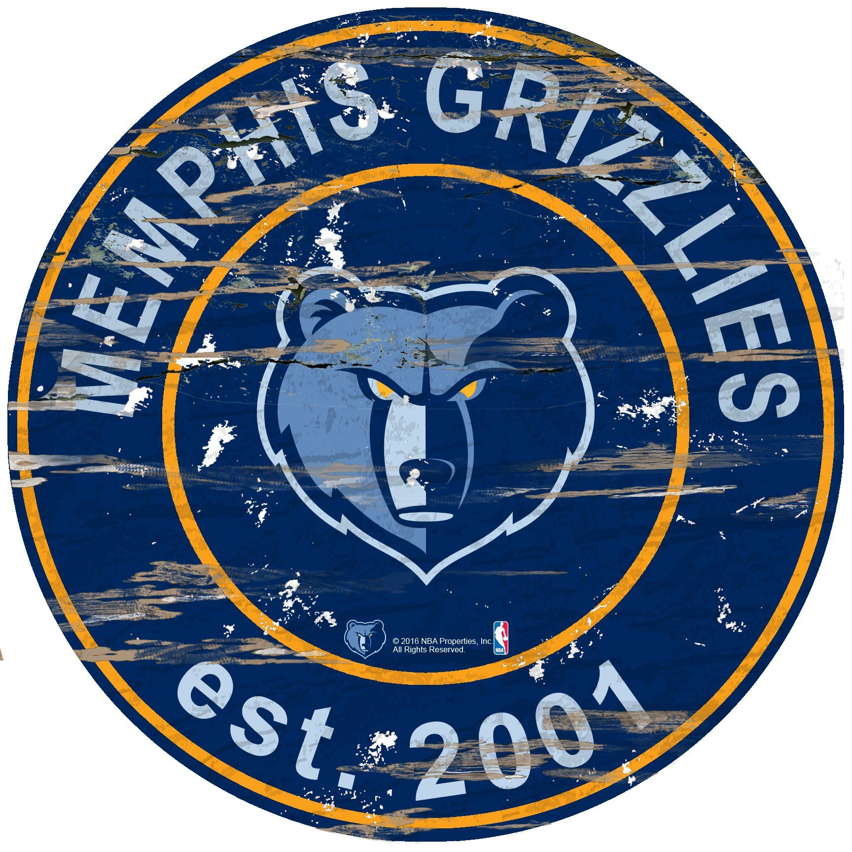 online store f99b4 b6952 Memphis Grizzlies Sign Wood 24 Inch Round   Products ...