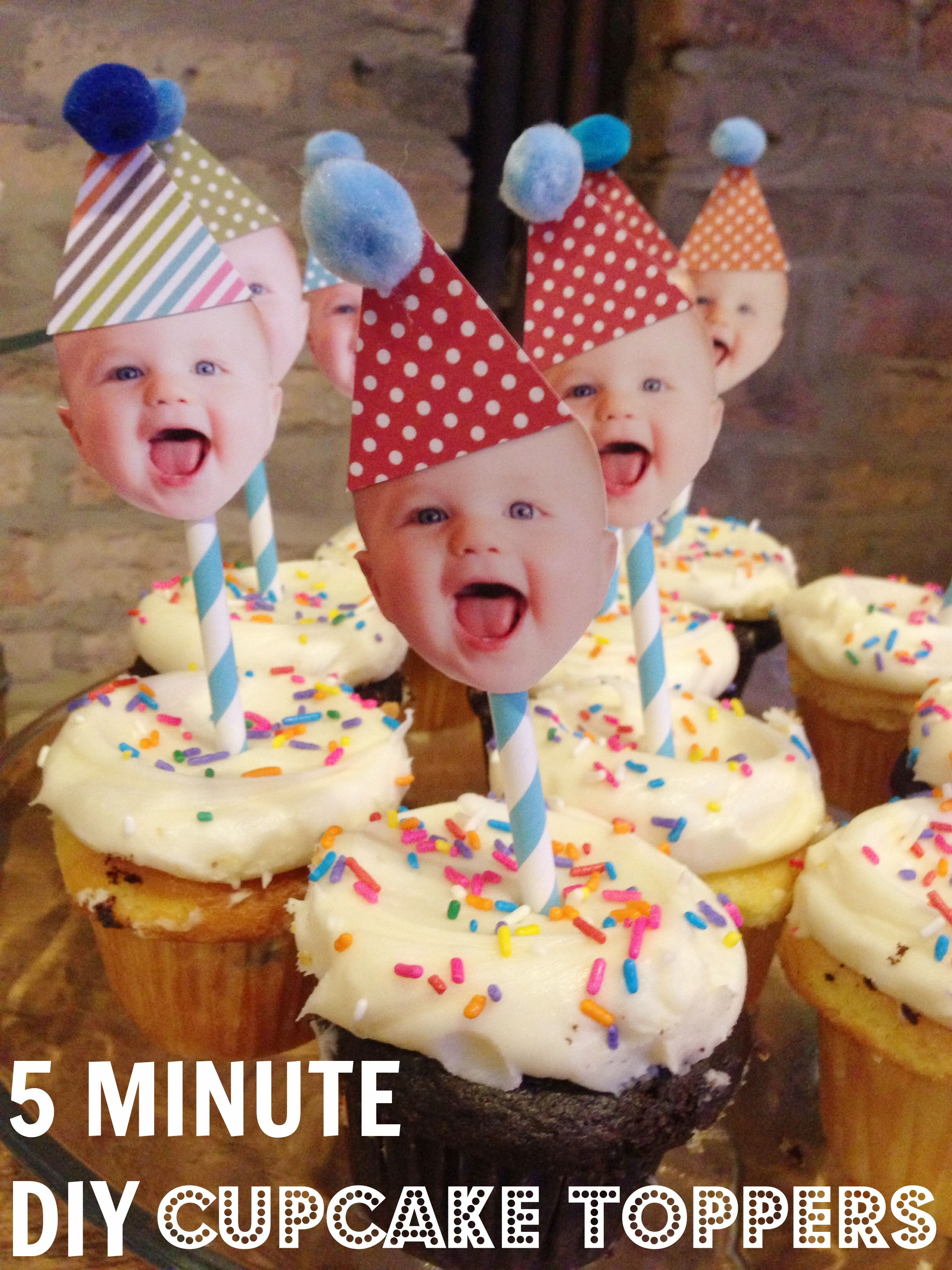 5 Minute Diy Cupcake Toppers Www Weheartparties Com Would Be Cute