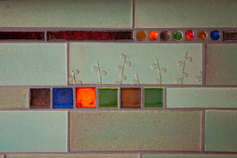 Add textures to handmade tile - one amazing way to add character and charm to your tile backsplash!
