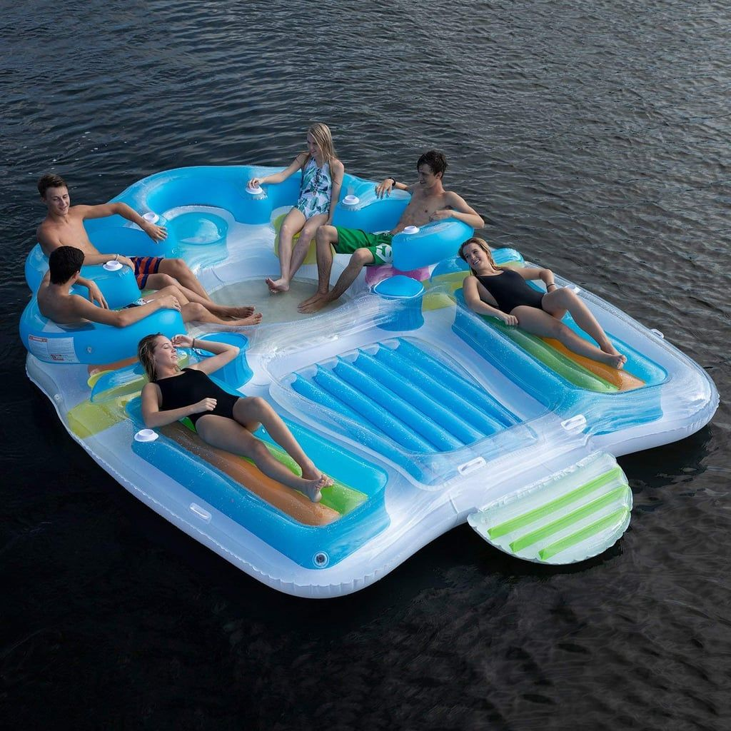 Searching For A Pool Float To Fit The Whole Family This One Holds Up To 7 People Lake Toys Pool Float Pool