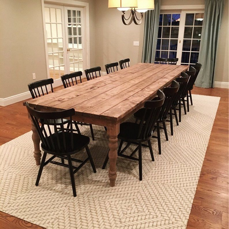 Extra Large Farmhouse Table, Long Farm Table, Custom Wood Table, Rustic Farmhouse Table, Kitchen Table, Barn Table, Modern Farmhouse Table images