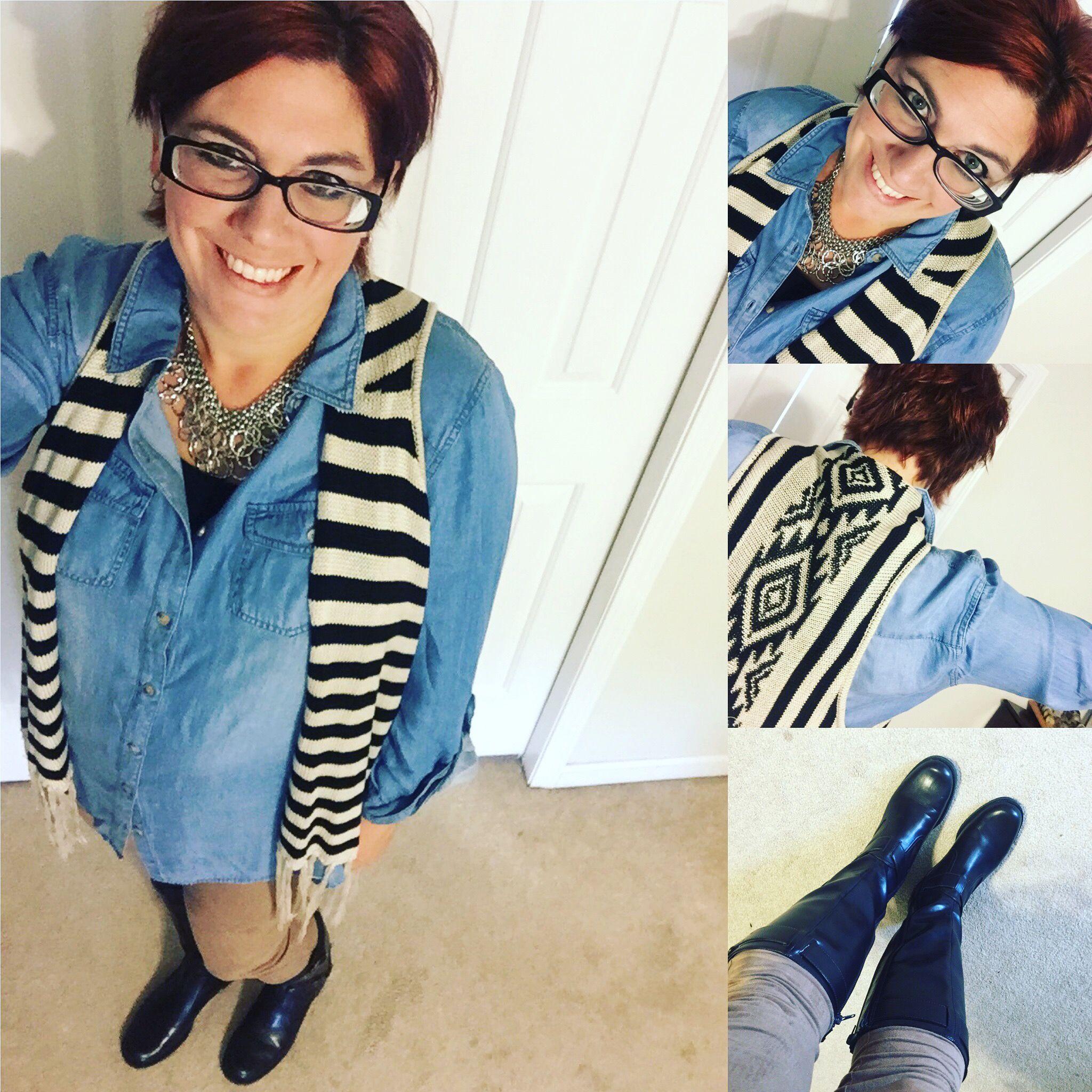 Shirt: Cato Fashions// Sweater vest: Kohl's// Leggings: Burlington ...