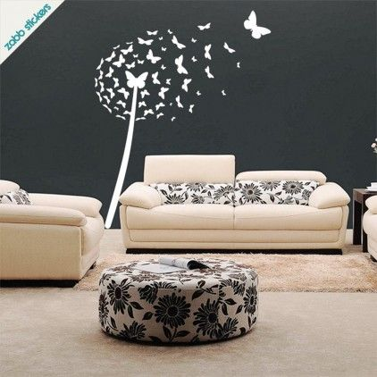 dandelion butterfly vinyl wall sticker by bouf com musical notes wall sticker for sale at bouf