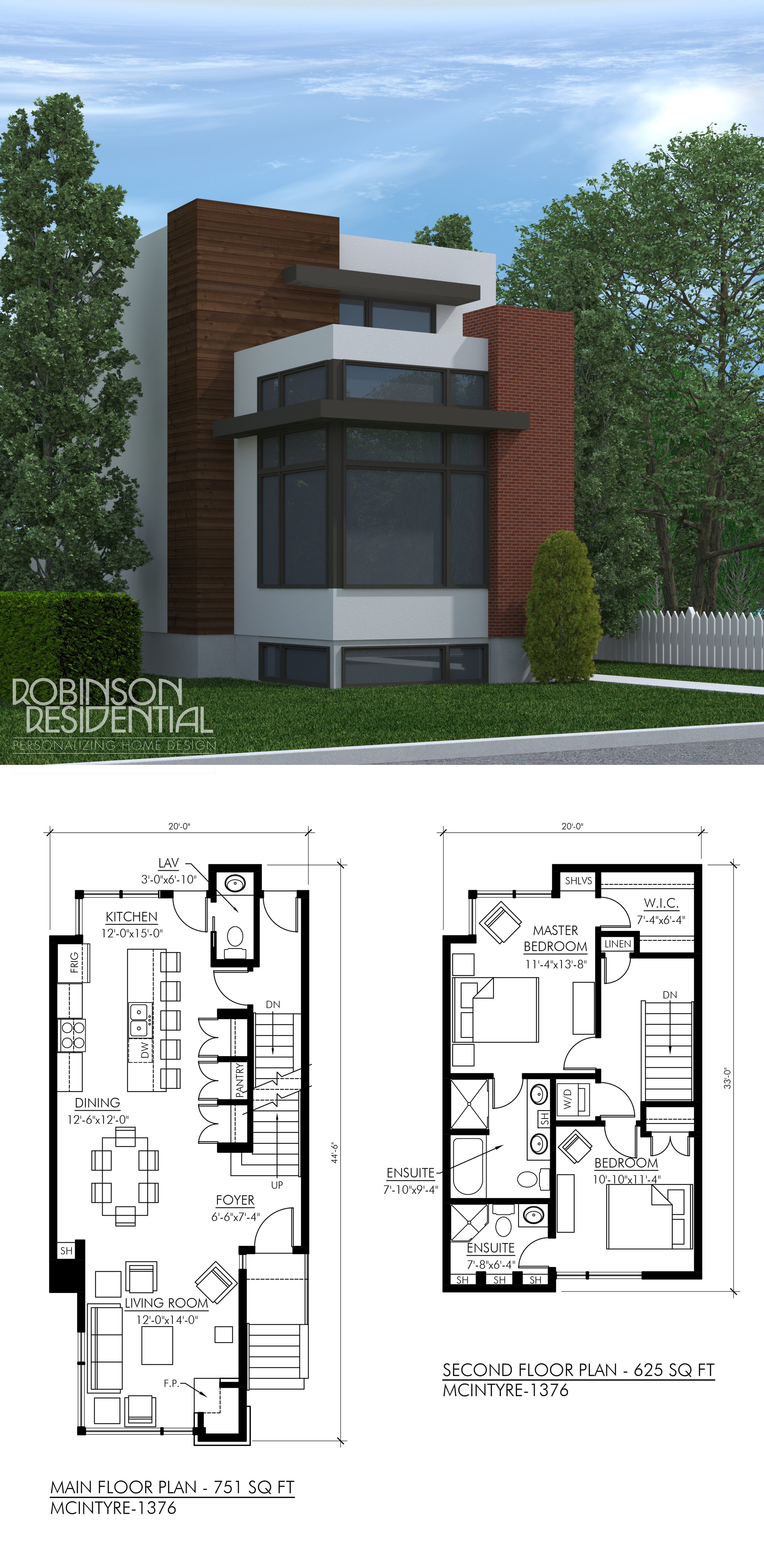 The Contemporary Mcintyre Storey Home Suited For Narrow Lot Exterior