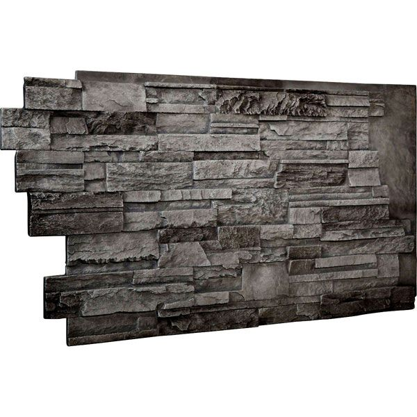 48 Inch W X 25 Inch H X 1 1 2 Inch D Dry Stack Endurathane Faux Stone Siding Panel Slate Stone Siding Panels Faux Stone Siding Stone Wall Panels