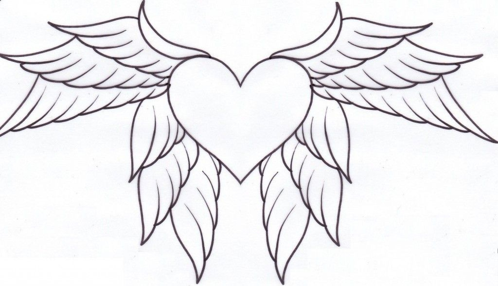 Heart With Wings Tattoo | Heart tattoos designs | Pinterest