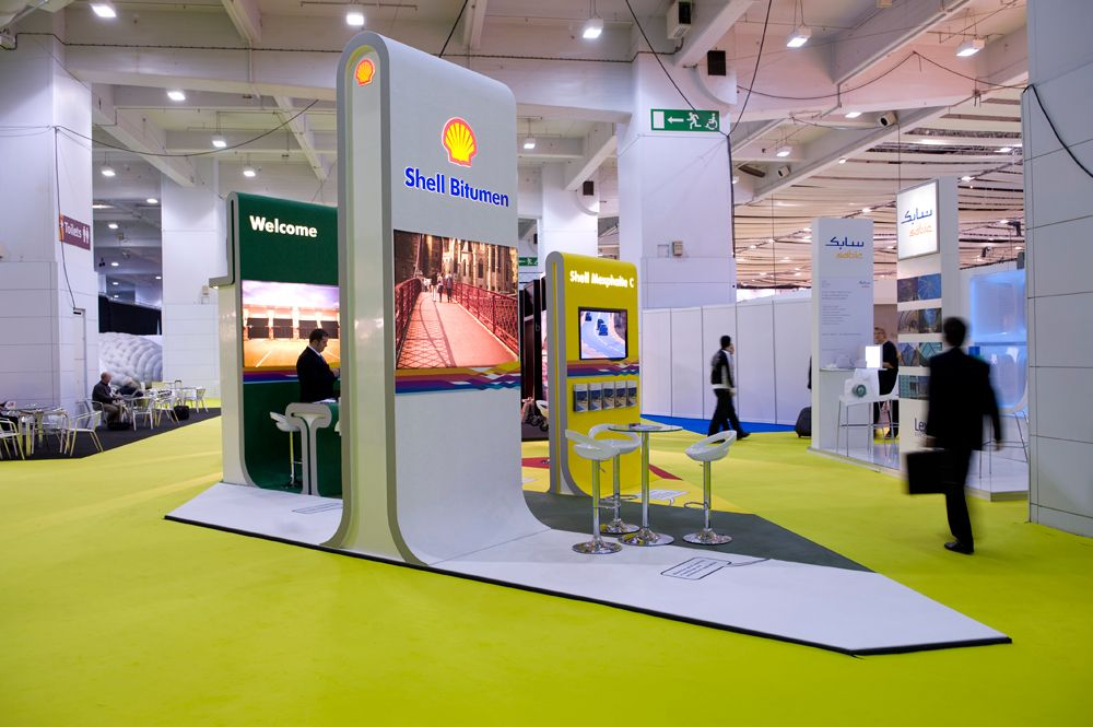 Island Exhibition Stand : Shell bitumen island exhibition stand at design ex