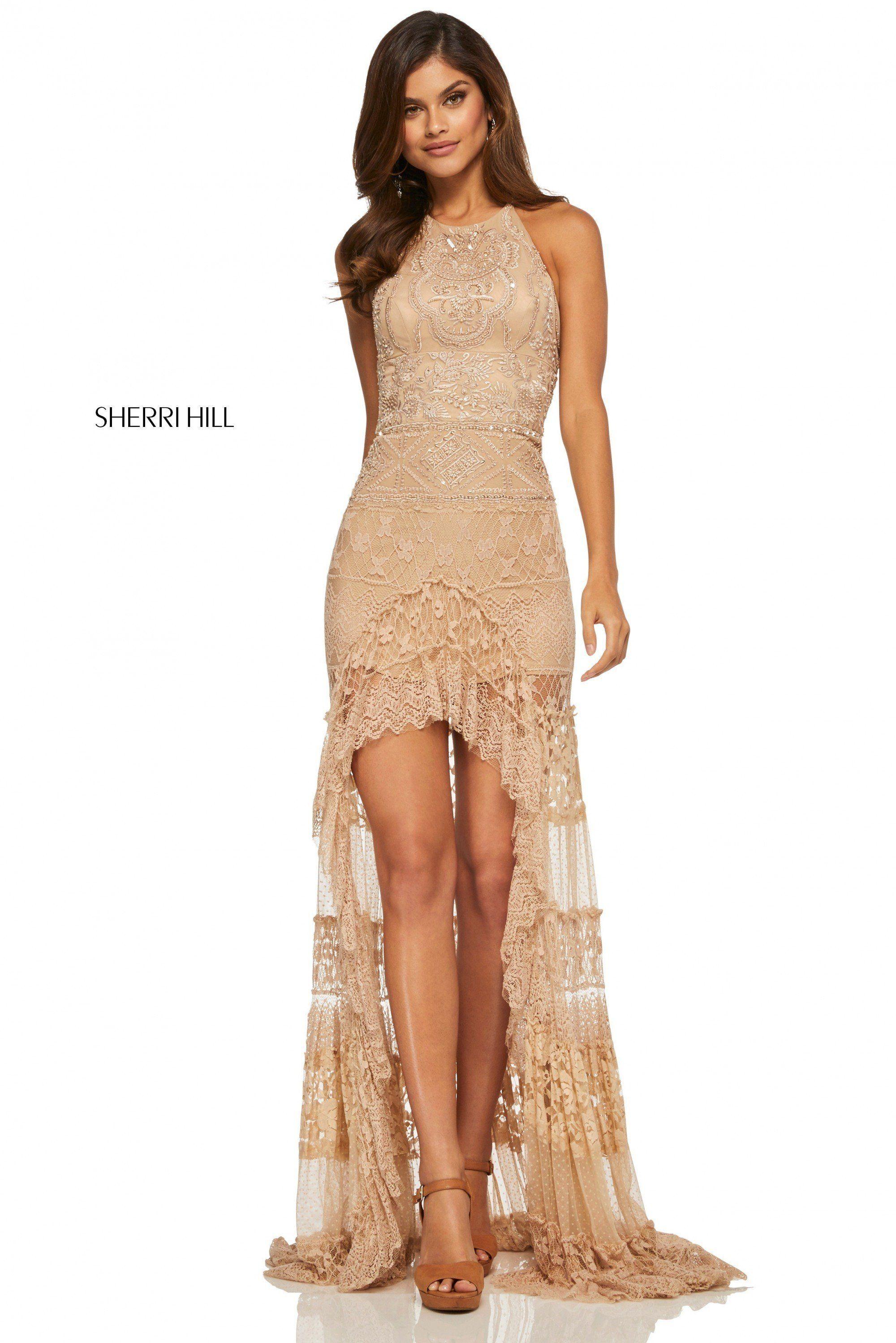 Photo of Sherri Hill 52663 Lace High-Low Dress