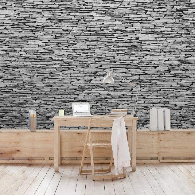 steintapete arizona stonewall vlies fototapete breit wandgestaltung tapete steinoptik. Black Bedroom Furniture Sets. Home Design Ideas