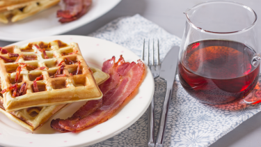Bacon Waffles Recipe Genius Kitchen Bacon Waffle Recipe Recipes Waffle Recipes